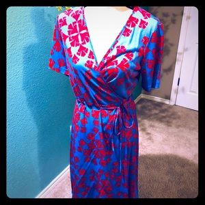 NWT DVF Calhy wrap dress. Pristine condition
